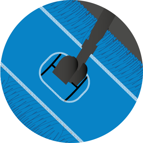 reinigingssysteem dat alle stof opneemt, vloerwisser, handwisser