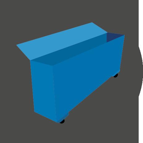 Vloerwisser met eenvoudig opbergsysteem