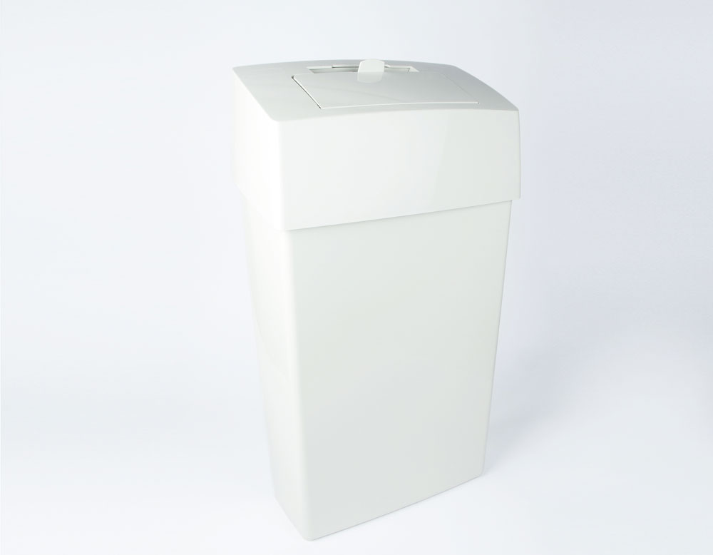 ladies hygiene bin with closred drop lid, hygiene bins for ladies toilets, waste bin for feminine hygiene products