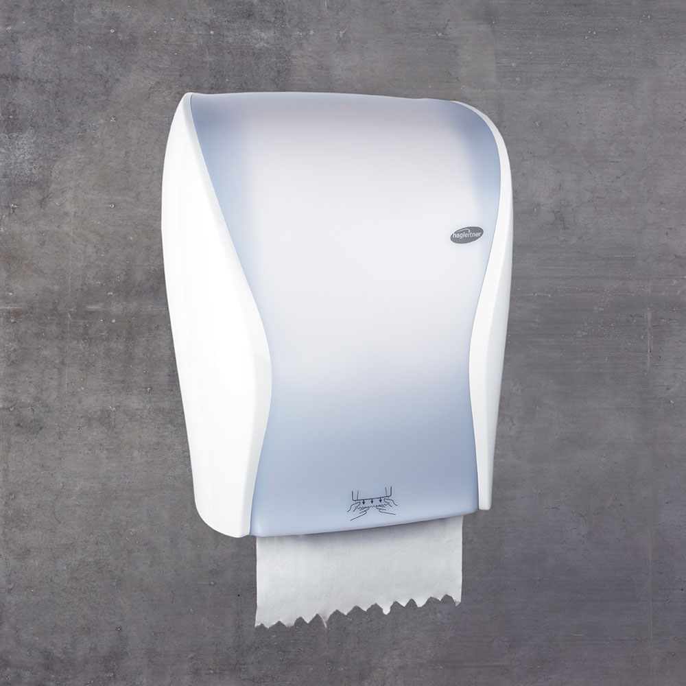 luxury hand towel roll dispenser for offices, nice looking hand towel roll dispenser for offices, nice hand towel roll holders for companies, hand towel roll holder with realease sensor, automatic hand towel roll dispenser